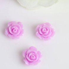 Hình ảnh 10pcs Mix Resin Rose Flower flatback Appliques For DIY phone/wedding/craft Nice Lilac - intl