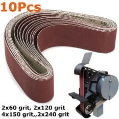 10 cái Chà Nhám Thắt Lưng 50x686 mét Vải Ủng Hộ Hỗn Hợp Nhám Linisher Nhám Băng Ghế Dự Bị Máy Xay Nâu-quốc tế