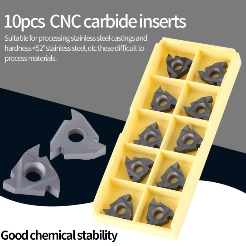10Pcs/set CNC Carbide Tips Inserts Blade Lathe Turning Tool with Box - intl