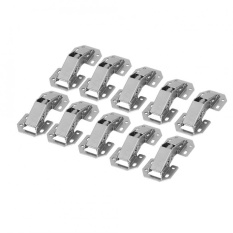 epayst 10Pcs/set Easy Installation Type Cabinet Cupboard Wardrobe Door Furniture Corner Folded Hinge
