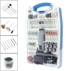 110pcs/set Rechargeable DC 12V Electric Grinder Set with Various Wheelhead and Steel Wire Brush for Polishing / Drilling - intl