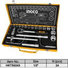 Bộ tuýp 24 chi tiết INGCO HKTS0243 (loại 1/2 inch)