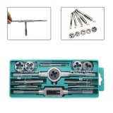 Ôn Tập 12Pc Set Hand Taps Metric Handle Tap And Die Set M3 M12 Adjustable Wrench Scr*w Thread Plugs Straight Taper Drill Repair Kits Intl Trong Trung Quốc