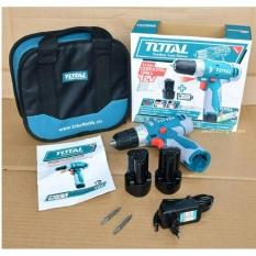 12V - Máy khoan vặn vít dùng pin Li-ion TOTAL TDLI228120 (Túi vải + 2 Pin Li-on + 2 mũi bắt vít)