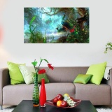 "12x18"" Beautiful Peacock Canvas Print Animal Oil Painting Art Home Wall Decor - intl"