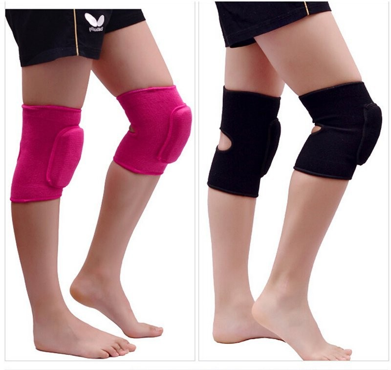 1pair Adults Dance Knee Pads Baby Crawling Safety Sport Knee Support Gym Fitness Crossfit Tennis Volleyball Kneepad - intl