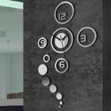 Đồng hồ dán tường 3D trang trí phòng khách hiện đại (Trắng)