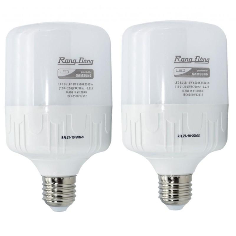 2 bóng đèn 50W Rạng Đông LED Bulb trụ E27