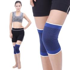 2 PC Sports Elastic Thermal Outdoors Basketball Knee Support Guards, Size: 22 X 14cm (Blue) - intl