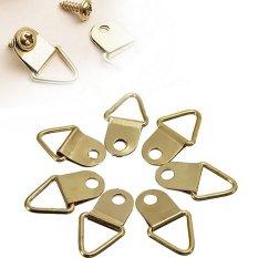 Hình ảnh 20 móc treo tranh vòng chữ D hình tam giác chịu nặng kèm vít, khung ảnh, giá treo-quốc tế