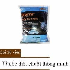 Hình ảnh 20 Viên Thuốc Diệt Chuột Xanh Thông Minh Storm
