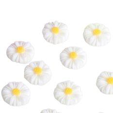 Mua 20 cái Nhựa Hoa Hướng Dương hoa Cúc lưng phẳng Thêu Sò Thủ Công Điện Thoại DIY-Màu Trắng-intl