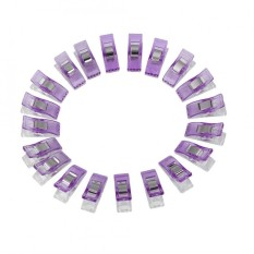 Mua 20pcs/pack Plastic Needlework Clip For Quilting Sewing Knitting Fabric Binding Clamps (Purple) - intl