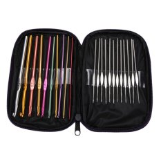 Mua 22pcs Set Multi-colour Aluminum Crochet Hooks Needles Knit Weave Craft Yarn (Intl)
