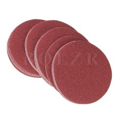 240Grit 6-Inch Sanding Discs Hook Loop Sandpaper Set of 20 Brick Red