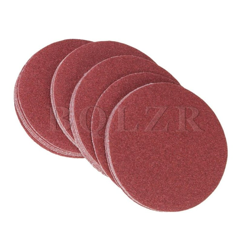 240Grit 6-Inch Sanding Discs Hook Loop Sandpaper Set of 20 Brick Red