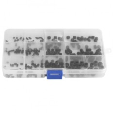240 cái Thép Carbon Vít Lục Giác Bộ Grub Bu Lông Ốc Vít Với Ốp Lưng Nhựa-quốc tế