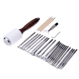 Bán 25Pcs Set Manual Leather Carving Stamp Tools Kit Intl Nguyên