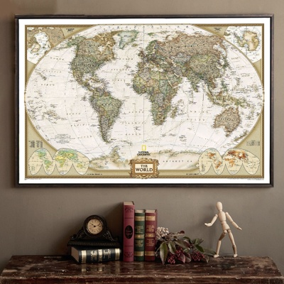 Mua 28*18inch Large Vintage World Map Office Supplies Detailed Antique Poster Wall Chart Retro Paper Matte Kraft Paper Map Of World - intl