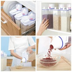2Kg Food Grain Cereals Bean Rice Plastic Storage Container With Measuring Cup Intl Chiết Khấu Trung Quốc