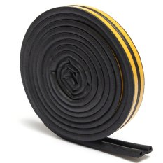 Hình ảnh 2pcs 5M P Type Draught Self Adhesive Window Door Excluder Foam Seal Strip Tape Rubber Black - intl