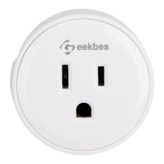 2 cái Geekbes YM-WS-1 Ổ Cắm Thông Minh WiFi Mini Cắm ỨNG DỤNG Điều Khiển từ xa Thời Gian Ổ Cắm có Tác Dụng với Alexa-Whit- quốc tế