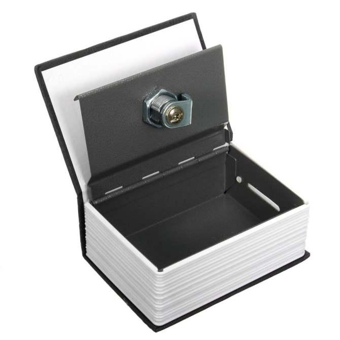 2pcs Secret Dictionary Book Cash Money Jewelry Storage Security Box Safe 2 Lock .