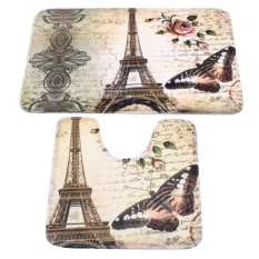 Mã Khuyến Mại 2 Cai Mềm Mại Paris Thap Eiffel Nha Tắm Phong Cach Bệ Thảm Bao Phong Tắm Nha Tắm Intl Rẻ