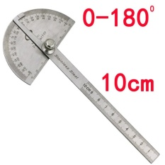 2pcs Stainless Steel 180 degree Protractor Angle Finder Arm Measuring Ruler Tool - intl