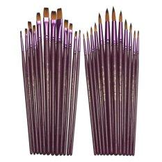 Mua 2 bộ 2X12 cái Phẳng Và Đầu Tranh Bút Lông Bộ Nghệ Sĩ Lông Nylon Màu Nước Dầu Vẽ Bút quốc tế