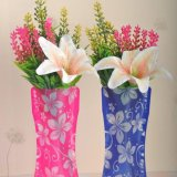 2X Foldable Plastic Unbreakable Reusable Flower Home Decor Vase - intl