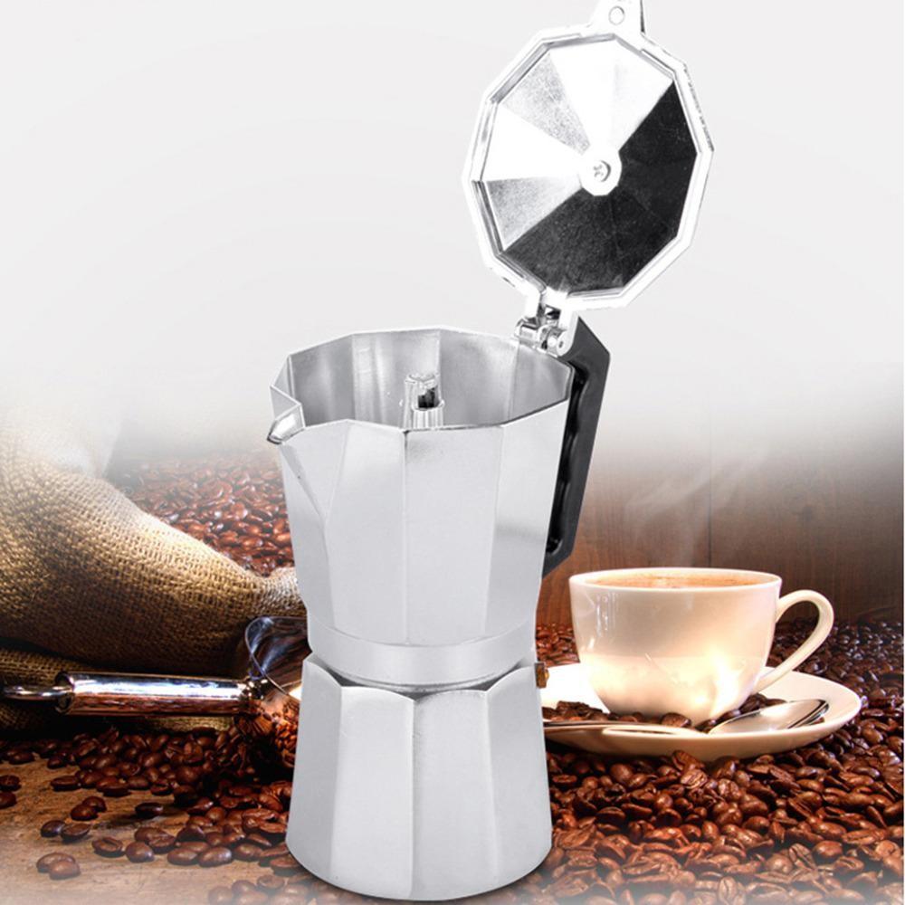 Hàng mới về 3 Cup Moka Espresso Express Stovetop Espresso Coffee Maker Pot Latte - intl so giá