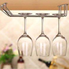 Hình ảnh 3 hàng Rượu ly thủy tinh giá đỡ Treo Cốc Tập Uống Stemware Giá Dưới Tủ Sắp Xếp Lưu Trữ Đôi Liên Tiếp cho Hộ Gia Đình -quốc tế