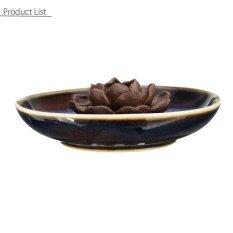 Giá Bán 3 Stick Hole Holder Ceramic Incense Burner Buddha Glaze Lotus Censer Plate Cones Intl Mới Nhất