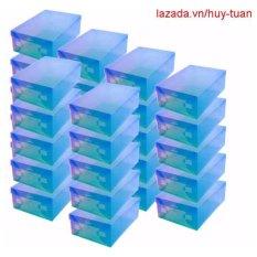 Bán 30 Hộp Đựng Giay Bằng Nhựa Xanh Dương Có Thương Hiệu