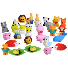 Mã Khuyến Mại 30 Pcs 30 Styles Funny Puzzle Animals Pencil Erasers Puzzle Toys For Party Favors Games Prizes Carnivals Gift Sch**l Supplies Intl