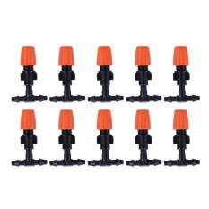 【companionship】(Giao hàng miễn phí cho cả ba chiếc đến Hà Nội)30 cái DIY Micro Tưới Nhỏ Giọt Vật Có Tự Tưới Cây Vòi Xịt Sân Vườn Vòi Phun Nước-quốc tế (Orange)