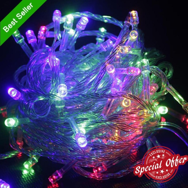 Bảng giá 33ft 100 Micro LEDS String Lights for Holiday Xmas Tree Wedding Party Decoration Halloween Displays at Home &Garden - Control Up to 8 Modes(3 Linkable LED Lights Available,White/Blue/multicolor) - intl
