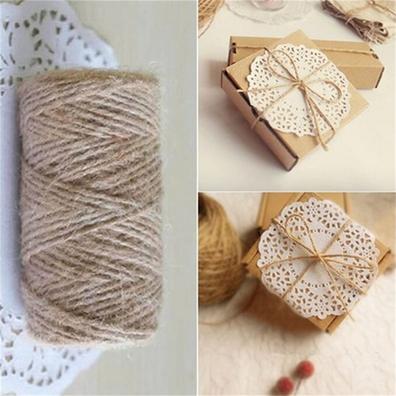 33M Christmas Hemp Rope Cord Marline for Wedding Favors Candy Boxes DIY Decor Brown intl - intl 6