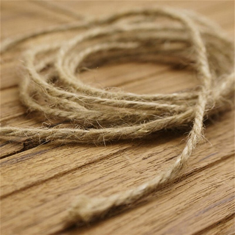 33M Christmas Hemp Rope Cord Marline for Wedding Favors Candy Boxes DIY Decor Brown intl - intl - 5