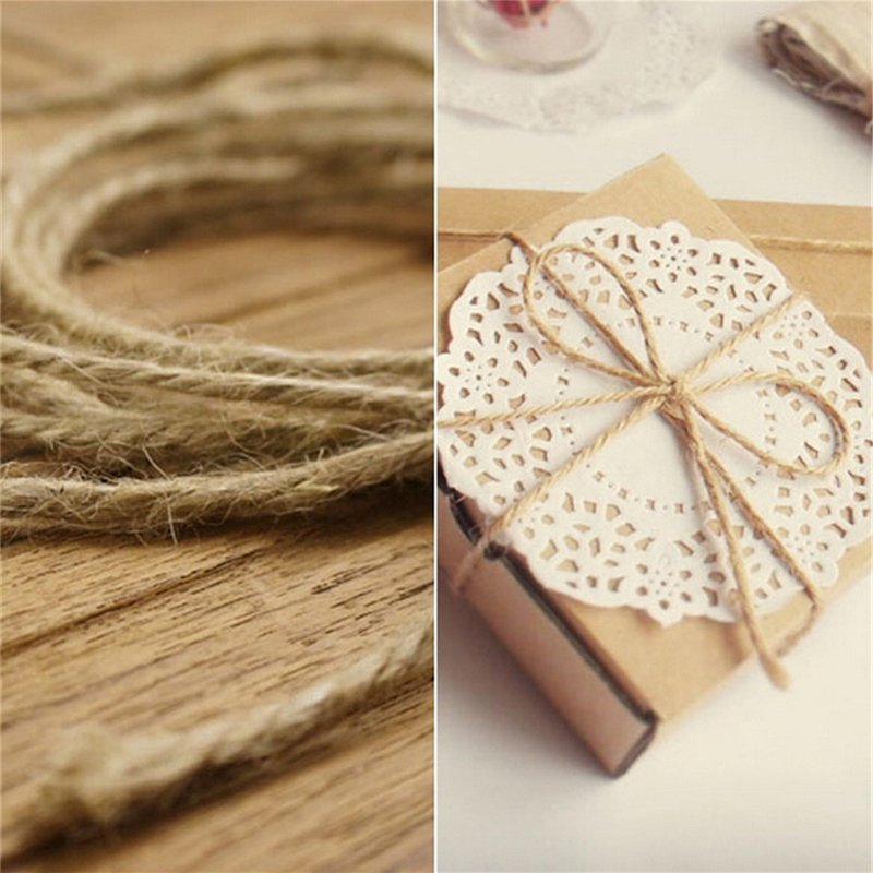 33M Christmas Hemp Rope Cord Marline for Wedding Favors Candy Boxes DIY Decor Brown intl - intl - 7