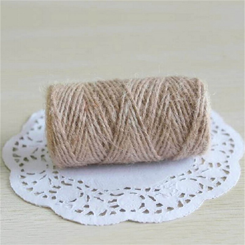 33M Christmas Hemp Rope Cord Marline for Wedding Favors Candy Boxes DIY Decor Brown intl - intl - 1