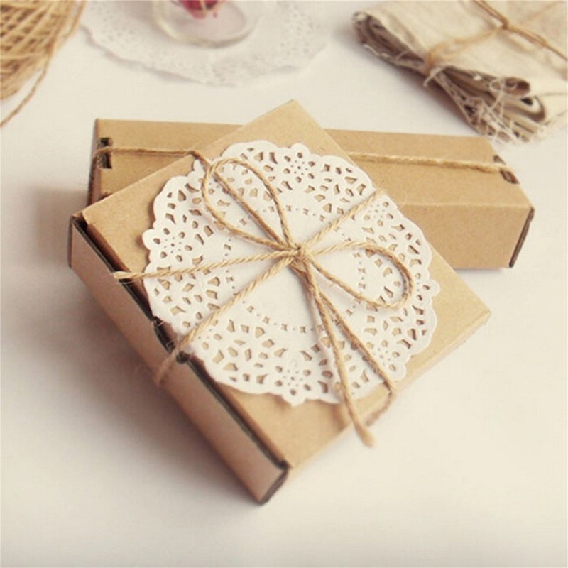 33M Christmas Hemp Rope Cord Marline for Wedding Favors Candy Boxes DIY Decor Brown intl - intl 2