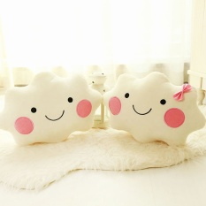 Hình ảnh 35cm Cute Cloud Pillow Bloster Sweet Smile Cushion Sofa Back Home Decoration Office Nap Lovely Creative Gift Birthday Presents - intl