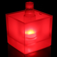 Hình ảnh 3.5L LED Dạ Quang Xô Đựng Đá Làm Mát Đỏ Rượu Uống Bia Giá Đỡ Thanh Trang Trí Tiệc-quốc tế
