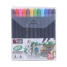 Mua 36 màu Dual Đầu Cứng Bàn Chải Mềm Mại Màu Nước Bút Bút Tranh-quốc tế