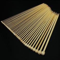 Mua 36Pcs 18 Sizes Bamboo Knitting Needles Smooth Crochet Single Pointed 2-10mm - intl