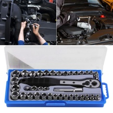 38 Pcs Multi-functional 3/8 inch imperial /Metric Ratchet Driver Socket Wrench Tool Set - intl
