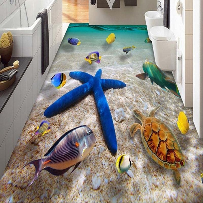 3D Pvc Sao Biển Tầng Đề Can Dán Tường Có Thể Tháo Rời Sinh Động Trang Trí Phòng-Quốc Tế