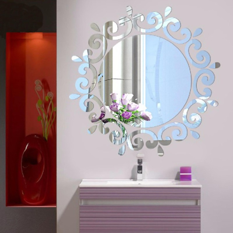 3D Stereoscopic Mirror Wall Stickers - intl